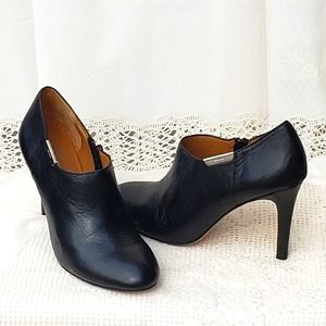Coach Black Leather Seneca Stilettos Ankle Booties